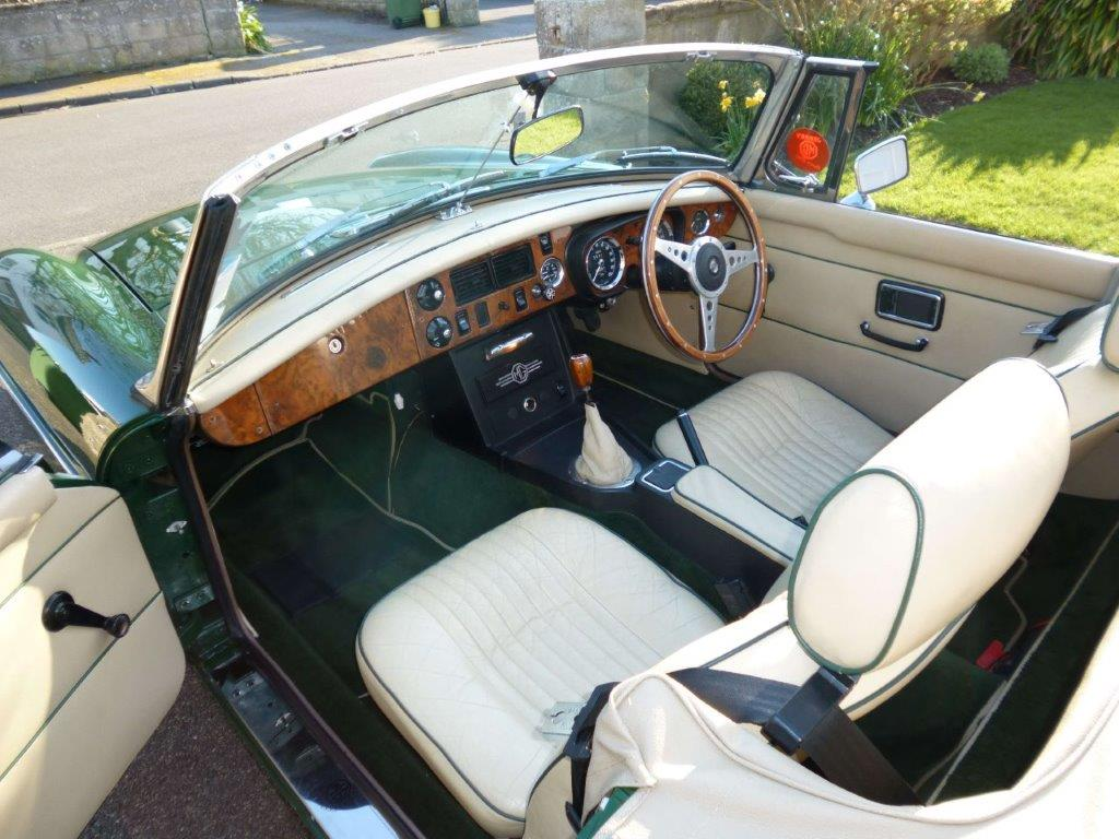 MGB Roadster interior leather